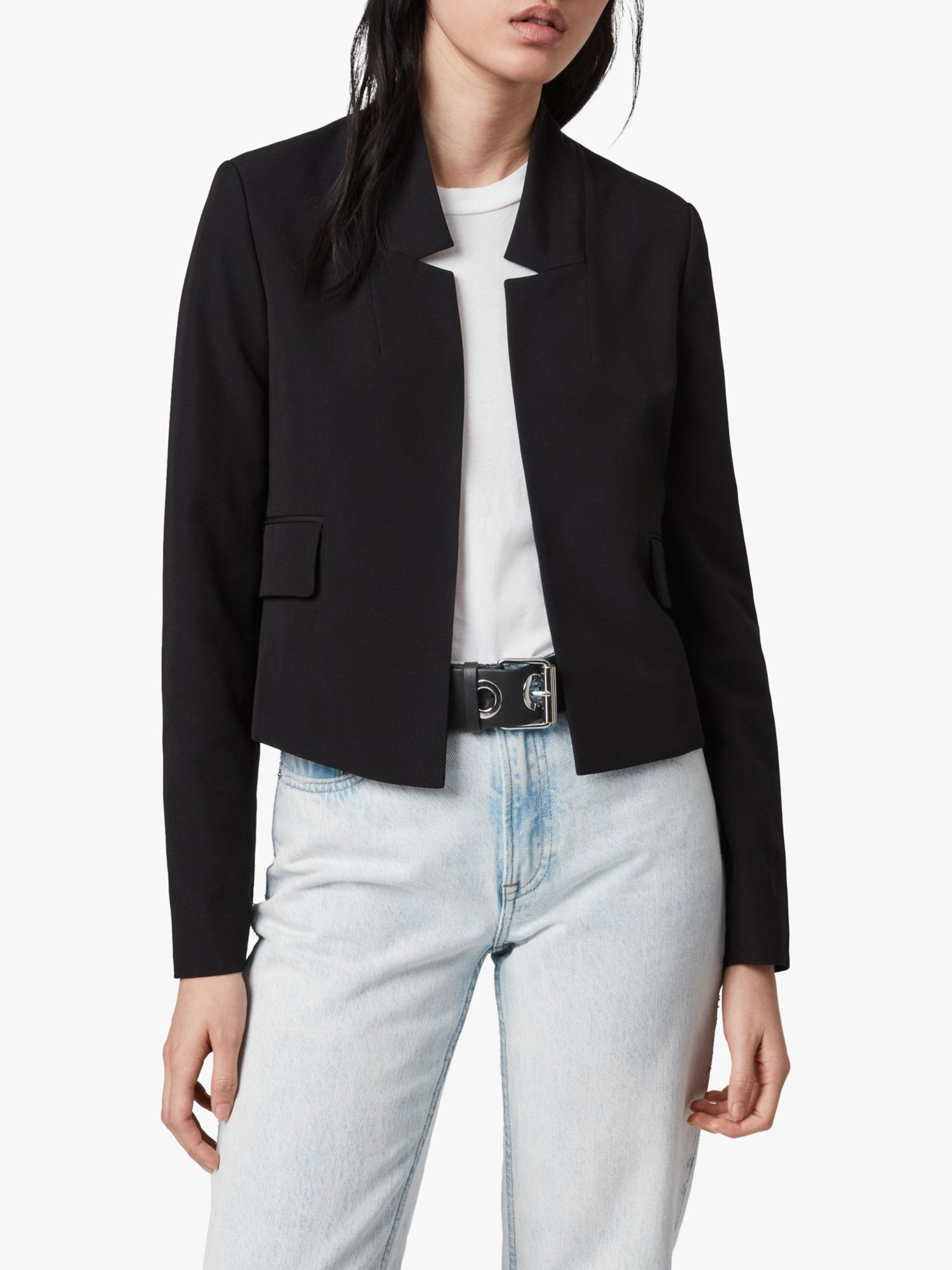 AllSaints AllSaints Ria Cropped Blazer, Black
