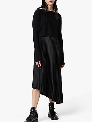 AllSaints Evetta Removable Jumper Midi Dress