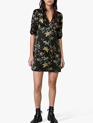 AllSaints Kota Evolution Floral Print Mini Dress