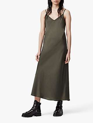 AllSaints Tierney Slip Midi Dress