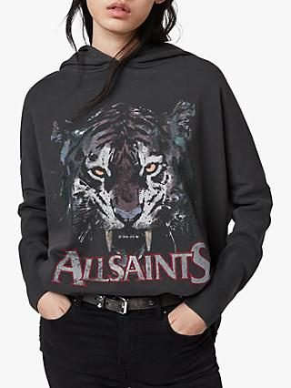AllSaints Tiger Xonda Hoodie, Washed Black