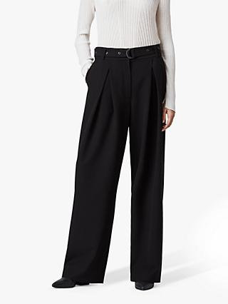 AllSaints Ria Wide Leg Trousers, Black