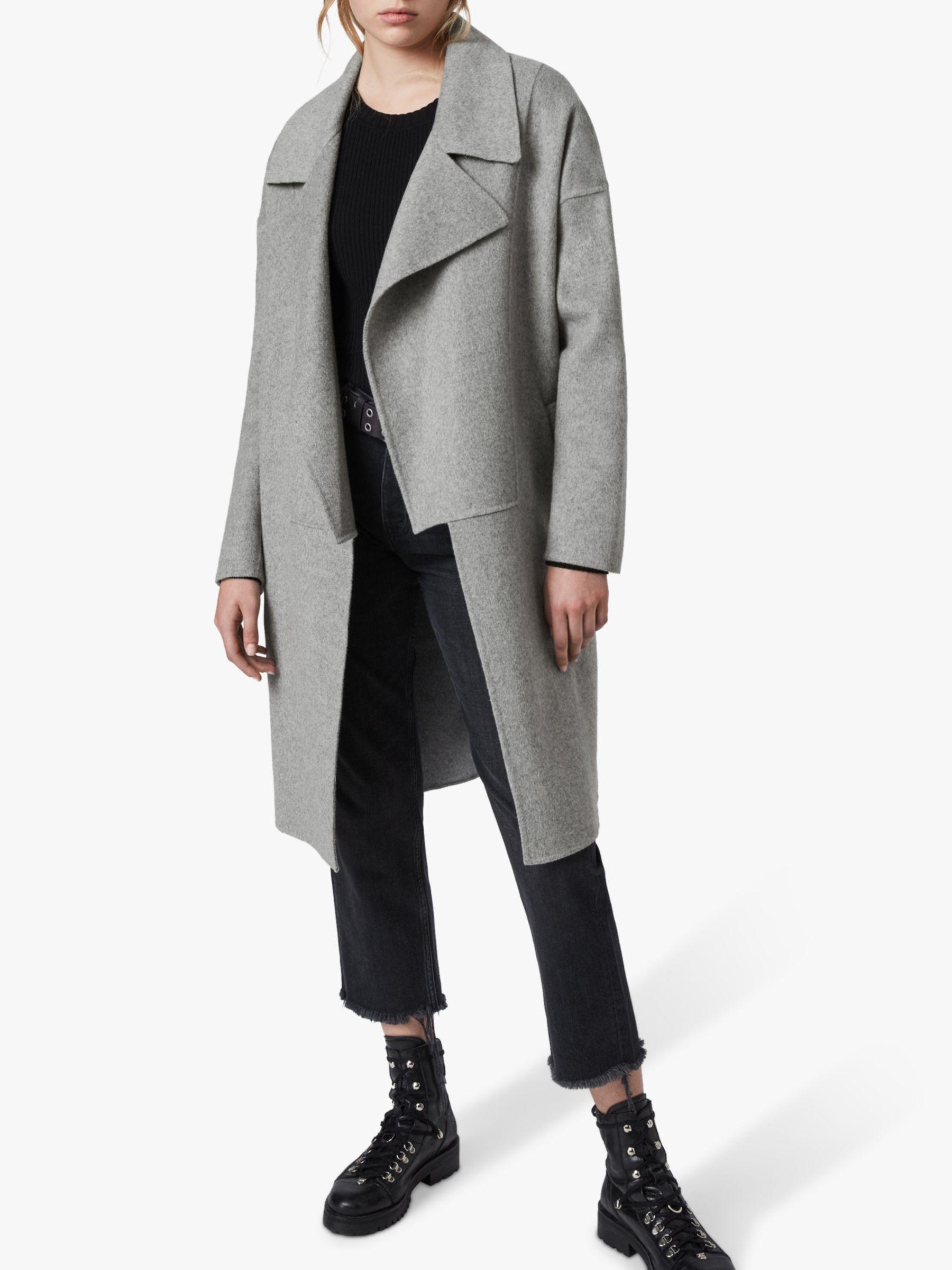 AllSaints AllSaints Ryder Coat, Pale Grey