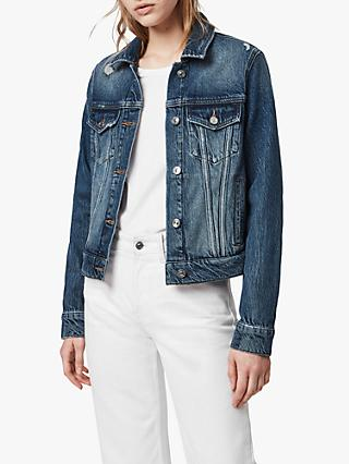 AllSaints Hay Denim Jacket, Dark Indigo Blue