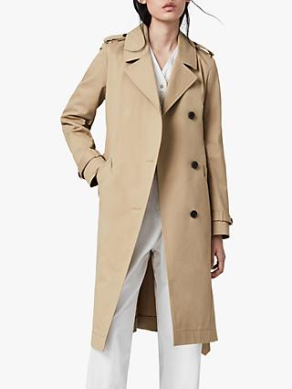AllSaints Chiara Trench Coat, Light Tan