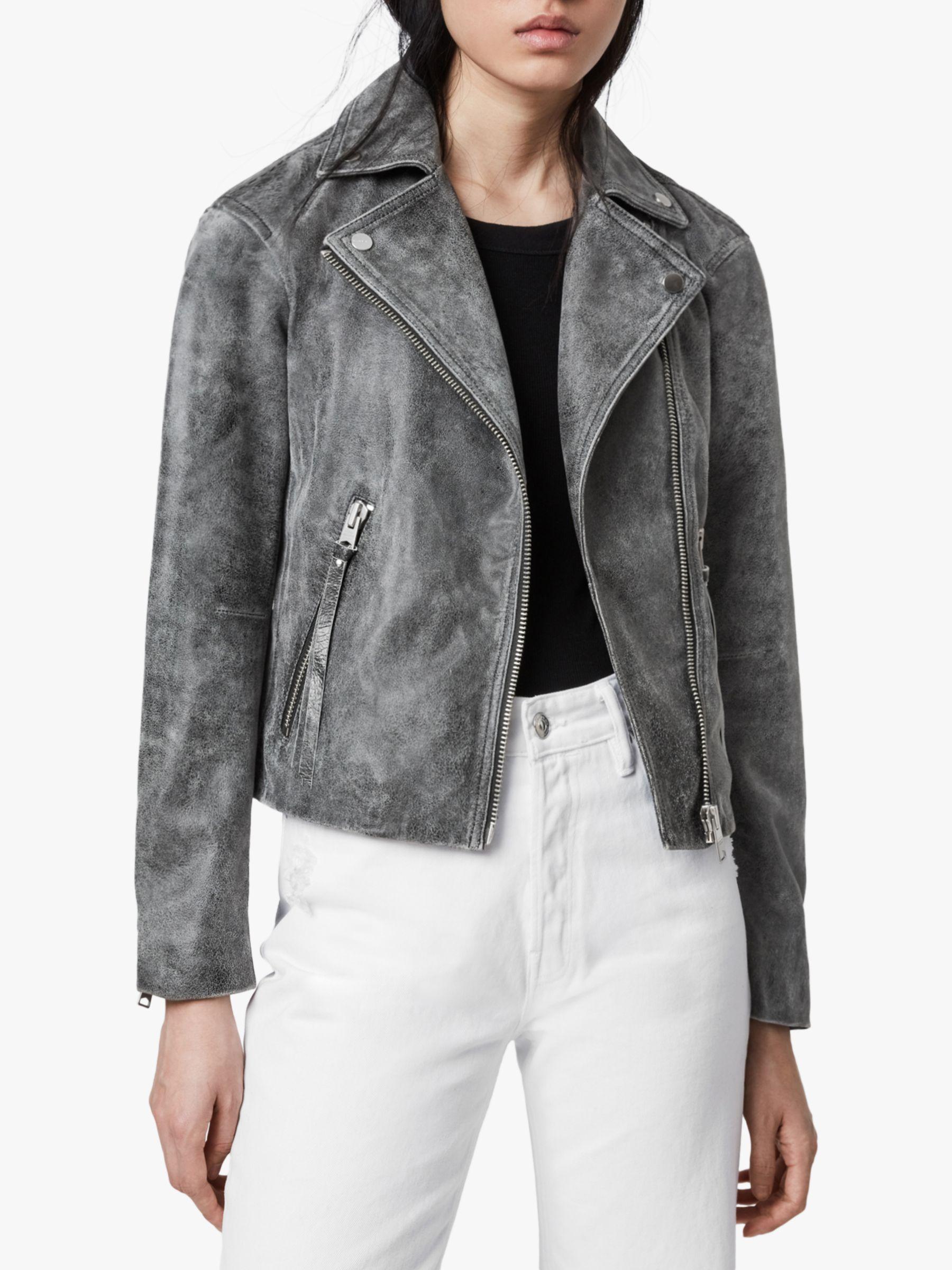 AllSaints AllSaints Dalby Iris Leather Biker Jacket, Black