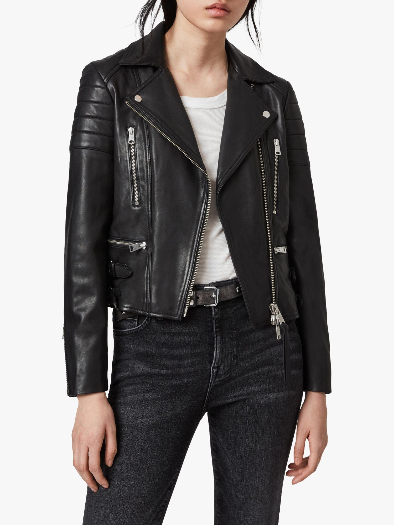 AllSaints AllSaints Halley Leather Biker Jacket, Black