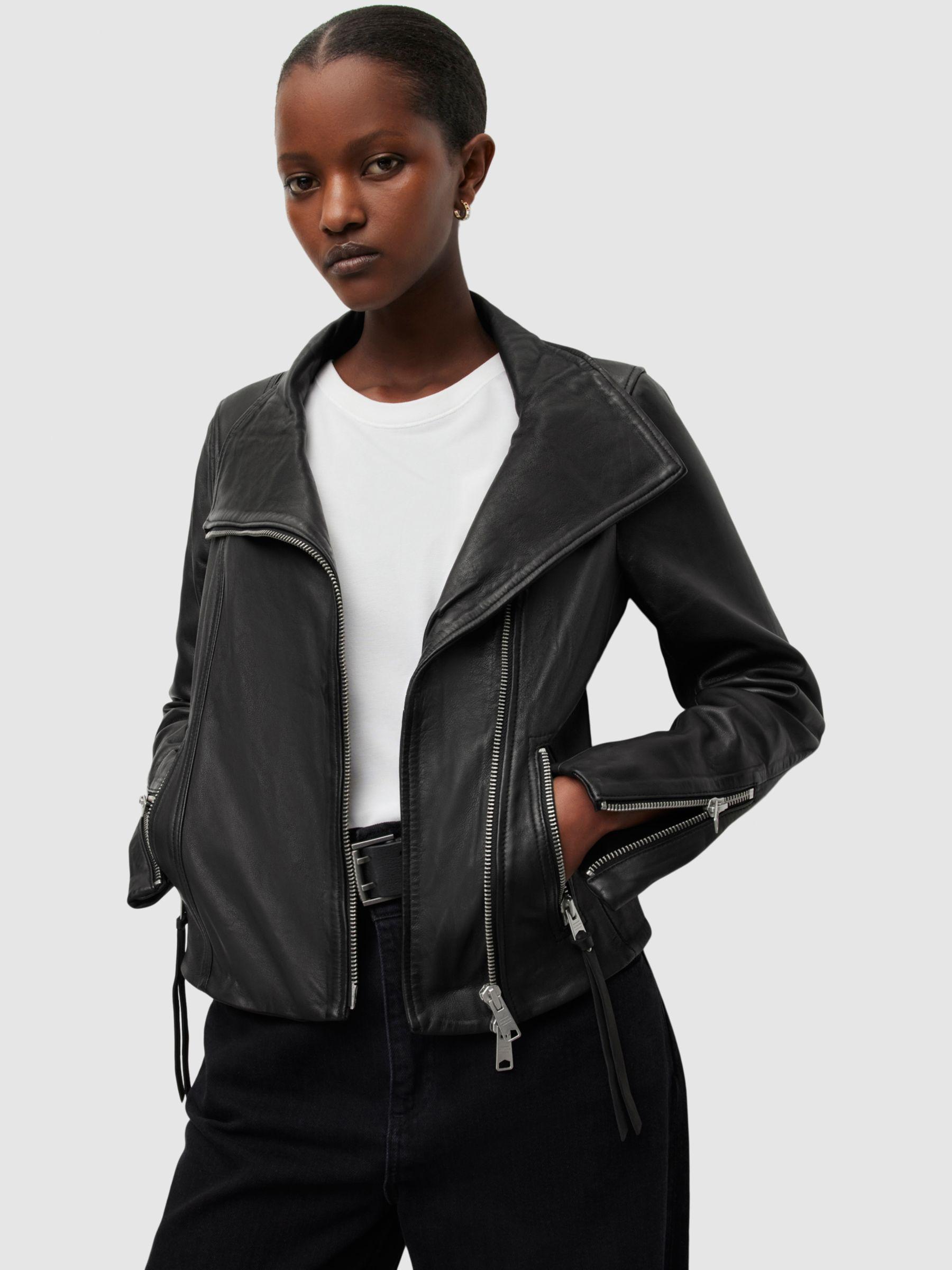 AllSaints AllSaints Ellis Leather Biker Jacket, Black