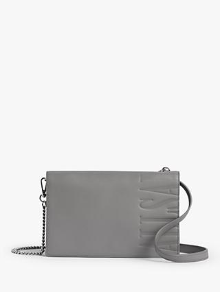 AllSaints Roman Chain Leather Wallet Cross Body Bag