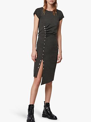 AllSaints Hatti Bodycon T-Shirt Dress, Charcoal Grey