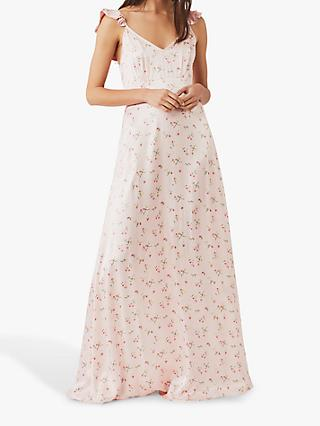 Ghost Dahlia Floral Satin Dress