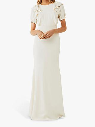 Ghost Delphine Ruffle Wedding Dress, Cloud Dancer