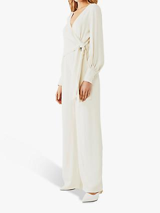 Ghost Clover Satin Back Crepe Jumpsuit, Cloud Dancer