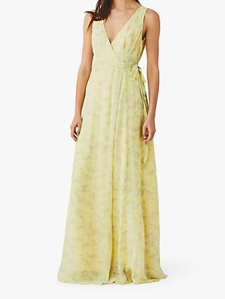 Ghost Juniper Sleeveless V-neck Bridesmaid Maxi Dress, Micro Ditsy Yellow