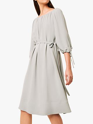 French Connection Alem Crepe Dress, Silver Blue
