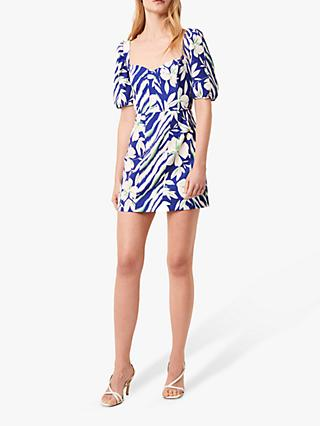 French Connection Brina Whisper Floral Mini Dress, Clement Blue