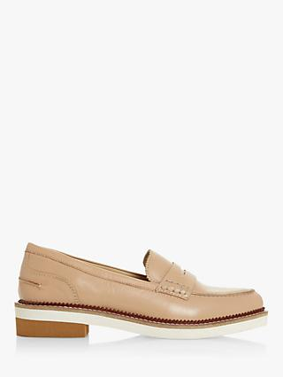 Bertie Genny Saddle Strap Leather Loafers