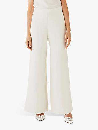 Ghost Senna Wide Leg Trousers, Cloud Dancer