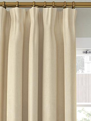 John Lewis & Partners Faux Silk Slub Pair Blackout Lined Pencil Pleat Curtains