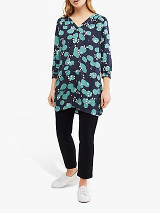 White Stuff Louise Printed Tunic Top, Ink Navy