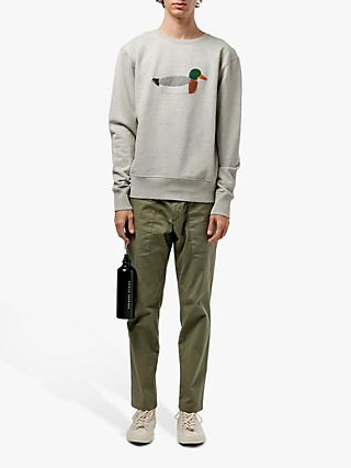 Edmmond Studios Duck Hunt Sweatshirt, Grey Melange