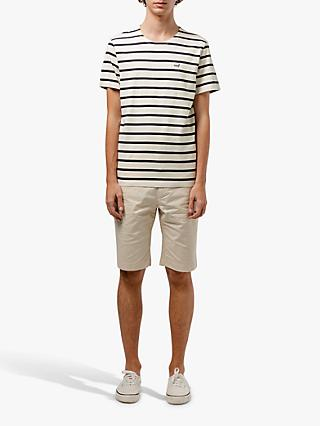 Edmmond Studios Sailor Stripe Duck T-Shirt, Navy
