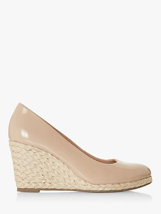 Dune Annabels Wide Fit Wedge Heel Espadrille Shoes, Nude