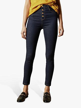 Ted Baker Leppie Button Front Jeans, Blue