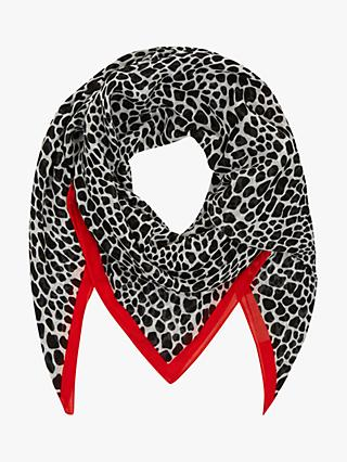 Hobbs Mia Animal Print Scarf, Natural