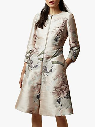 Ted Baker Coniey Floral Jacket, Light Pink