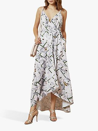 Ted Baker Oleyva Abstract Floral Midi Dress, Light Pink