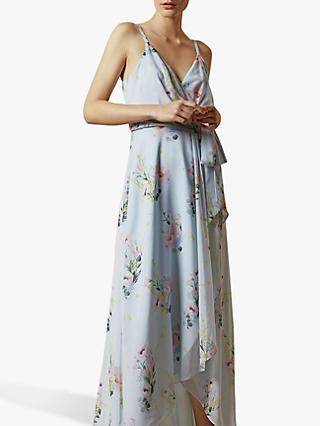 Ted Baker Arlissa Floral Wrap Dress, Light Blue
