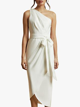 Ted Baker Gabie One Shoulder Drape Midi Dress