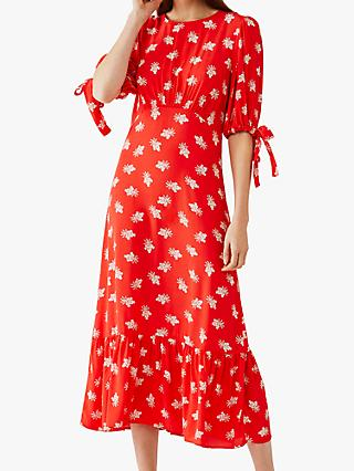 Ghost Fleurette Floral Print Midi Dress, Sweetheart Clover