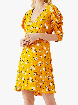 Ghost Brianna Ditsy Print Mini Dress, Mary Yellow