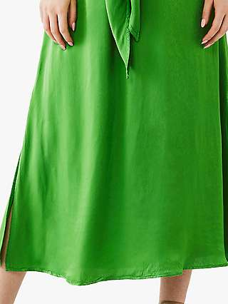 Ghost Kari Midi Dress, Lime Green