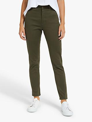 Collection WEEKEND by John Lewis Slim Leg Mid Rise Jeans, Khaki