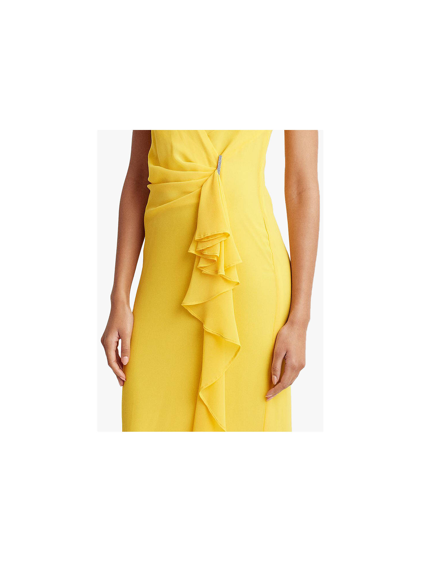 Buy Lauren Ralph Lauren Hermina Ruffle Evening Dress, True Marigold, 14 Online at johnlewis.com