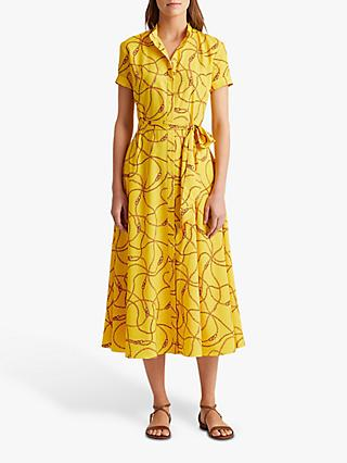 Lauren Ralph Lauren Kurko Chain Print Dress, Dandelion Fields