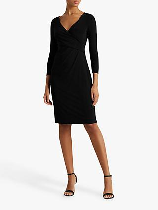 Lauren Ralph Lauren Cleora Day Midi Dress, Black