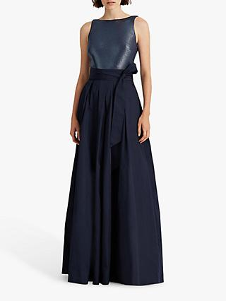 Lauren Ralph Lauren Agni Bow Waist Maxi Dress, Lighthouse Navy