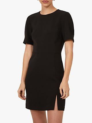Warehouse Split Front Mini Dress, Black