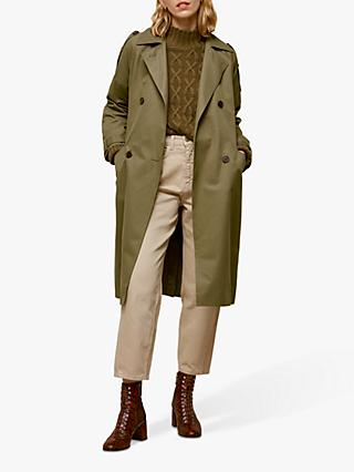 Whistles Izzey Trench Coat, Khaki
