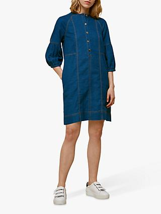 Whistles Alria Denim Dress, Blue Denim