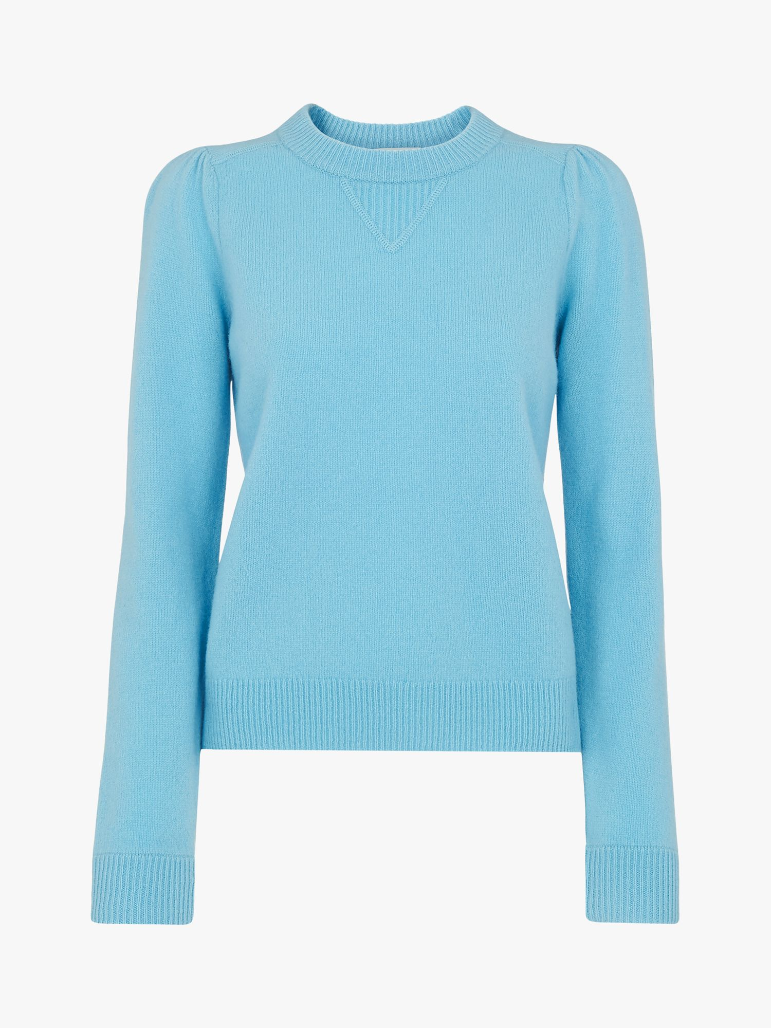 Buy Whistles Puff Sleeve Merino Jumper, Pale Blue, 6 Online at johnlewis.com