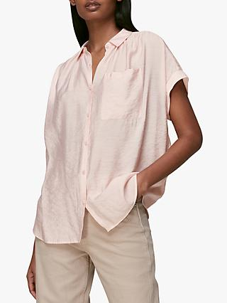 Whistles Nicola Button Through Shirt, Pale Pink