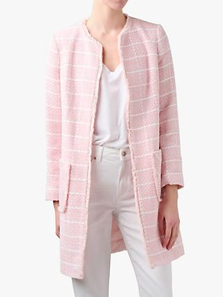 Helene For Denim Wardrobe Tweed Jacket, White