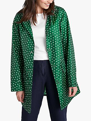 Seasalt Spot Print Waterproof Pack It Jacket, Green