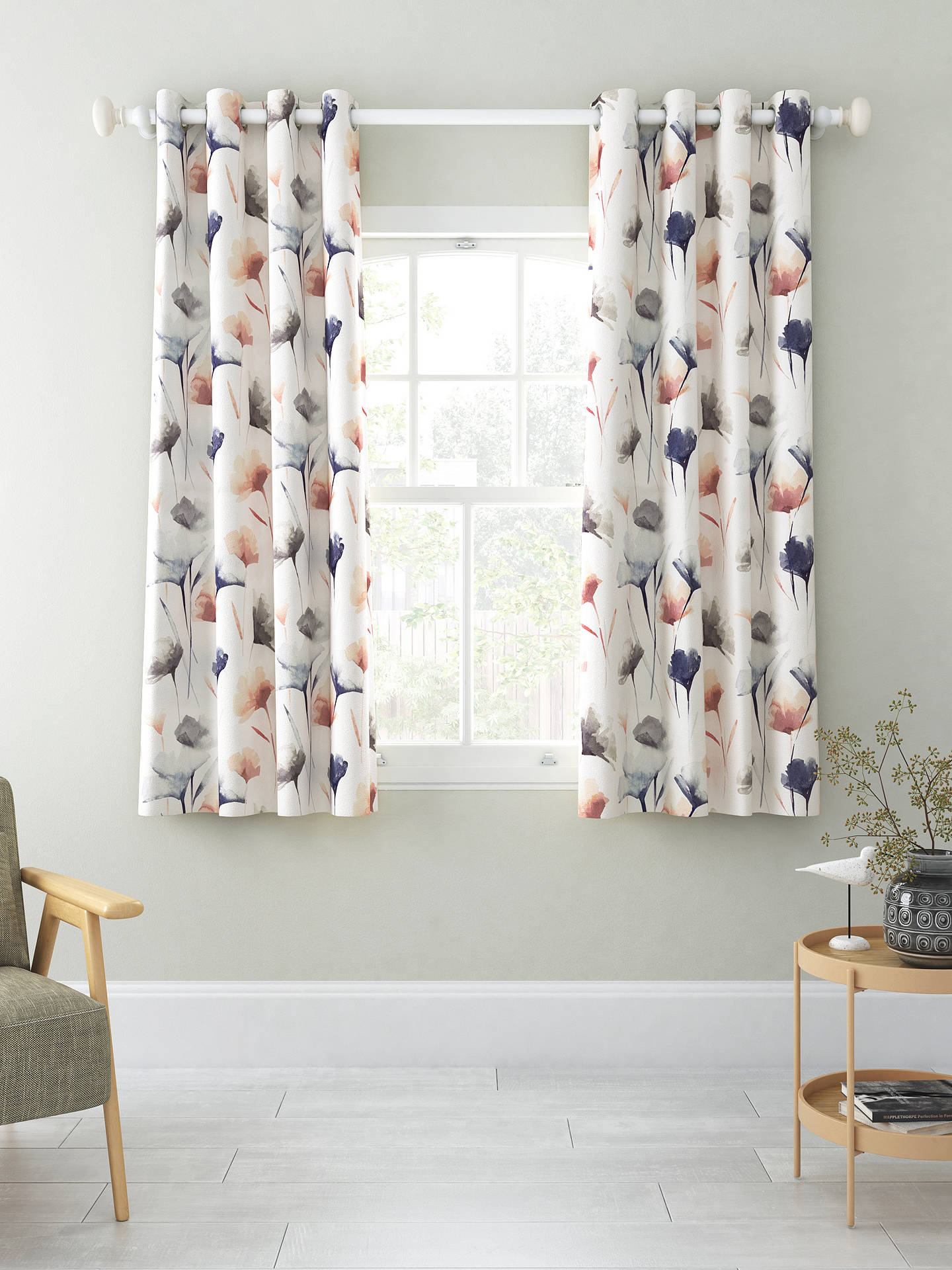 Buy John Lewis & Partners Ginkgo Pair Blackout Lined Eyelet Curtains, Multi, W228 x Drop 137cm Online at johnlewis.com