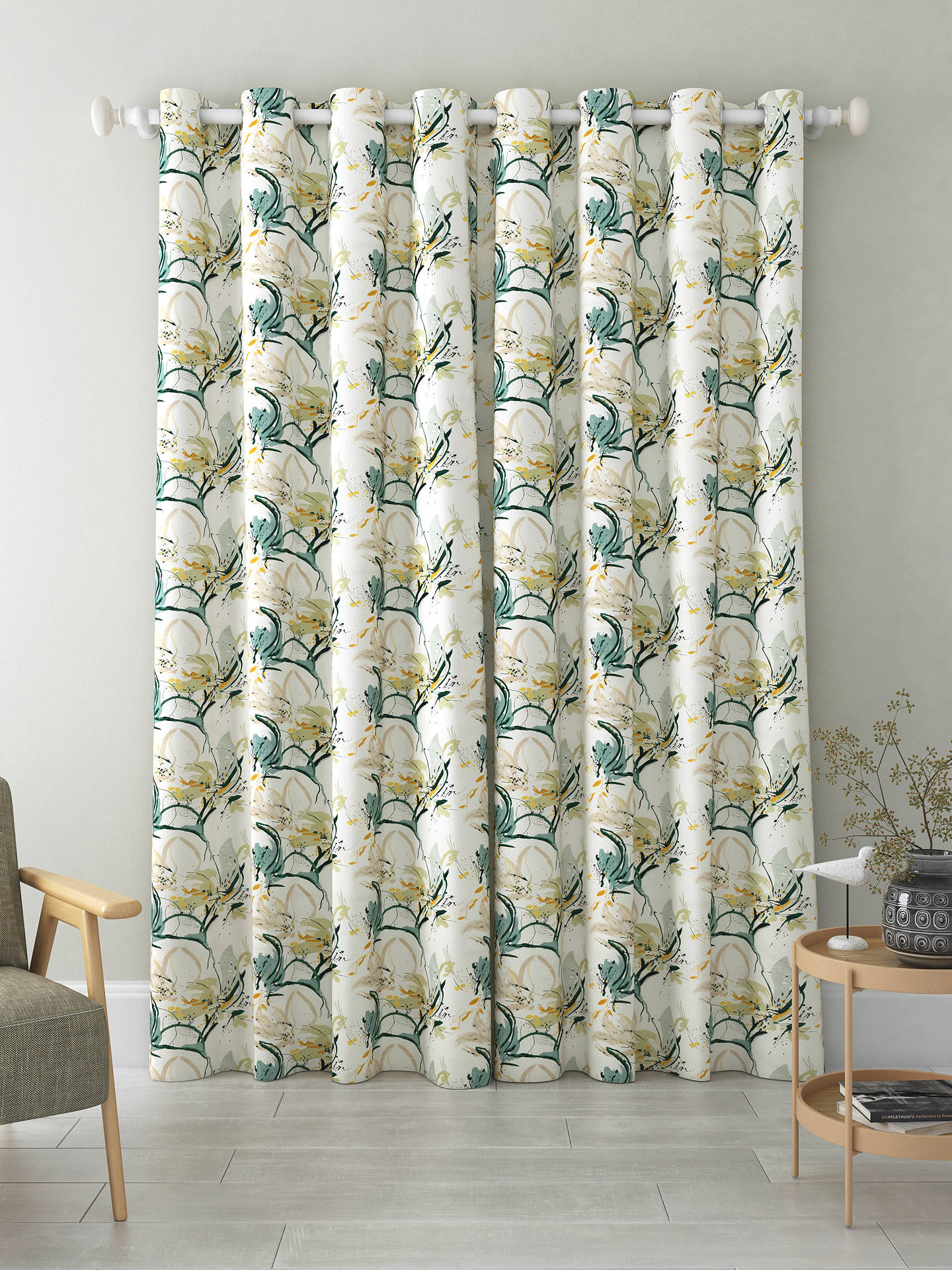 Buy Villa Nova Artesia Pair Blackout Lined Eylet Curtains, Eden, W167 x Drop 137cm Online at johnlewis.com